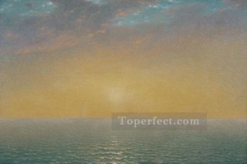 sun - John Frederick Kensett Sunset On The Sea seascape